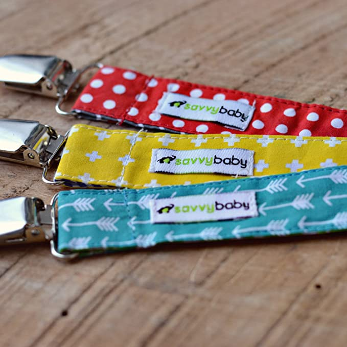 Pack de 3 clips para chupete, unisex, ideal como regalo ...