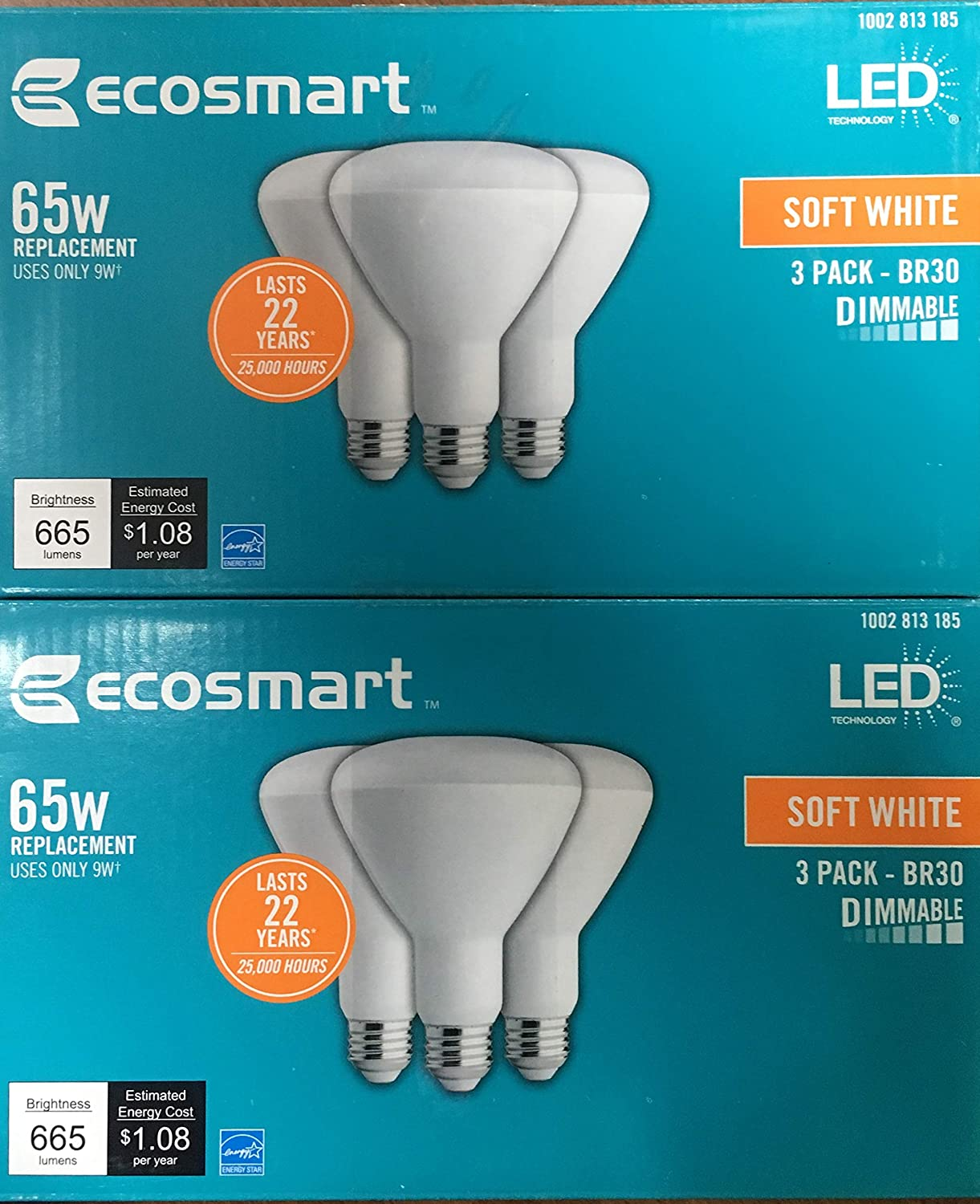 Amazon Com Ecosmart 65w Equivalent Soft White Br30 Dimmable Led Light Bulb 6 Pack Home Improvement