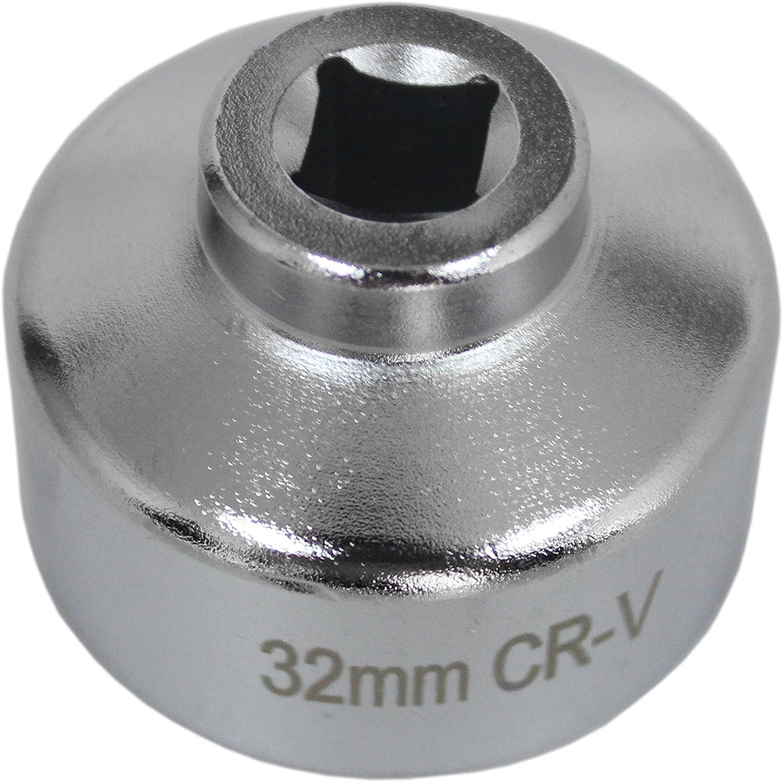 Jzhy Ölfilter Schlüssel 32 Mm 6 Pt Für Gm Ecotec 2 2l Volkswagen Pontiac Chevrolet Verchromt Ölfilterschlüssel Auto