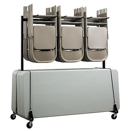 adiroffice silla y mesa Combo Carrito – plegable asiento y mesa con ruedas caddy – Cuerpo