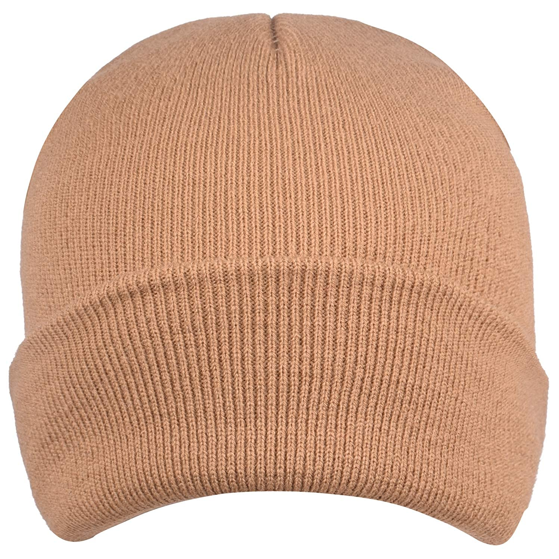 SUNNYTREE Men's Knit Beanie Hat Long Cuffed Warm Winter LQQ-ClassicBeanie-ArmyGreen-U