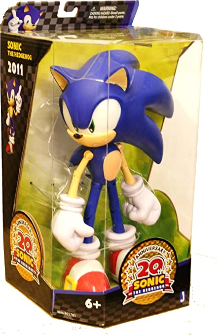 Amazon Com Jazwares Sonic The Hedgehog Anniversary 10 Inch Action Figure Modern Toys Games