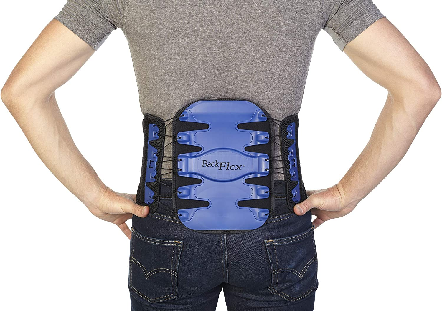 Back Flex Lumbar Brace - Maximum Pain Relief for Herniated Discs, Degenerated Discs, Spinal Stenosis, Facet Arthritis, and Lumbago - by BioSkin (Med/Large)