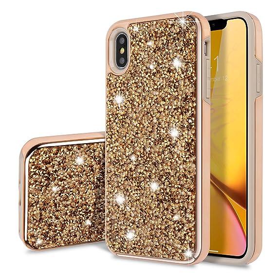 iphone xs max case gold glitter