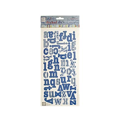 bulk buys Kole Imports CG706 My Precious Boy Flocked ABCs Cardstock Sticker Letters