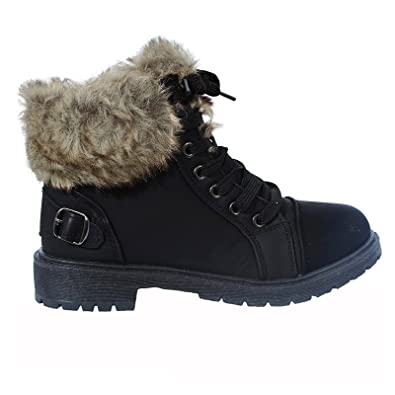 Shop Online Womens Faux Fur Ankle Boots Ladies Lace UP Collar Fur Lined  Winter Warm Ladies adeb982ec3