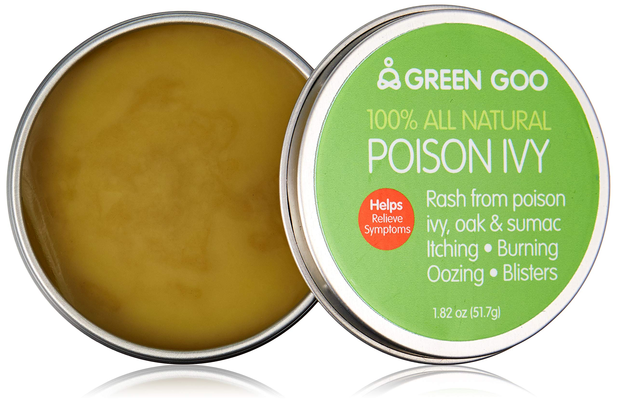Green Goo All-Natural Skin Care, Poison Relief, Large Tin, 1.82 Ounce