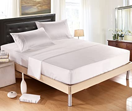 Silk Soft Satin Bed Sheet Set,Anti Slip Satin Sheet Sets,Luxury Sheets With