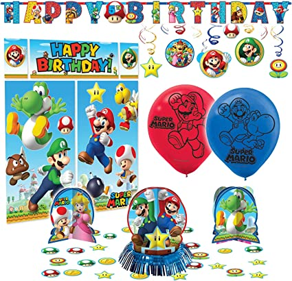 Amazon.com: Super Mario Bros Premium Fiesta de cumpleaños ...