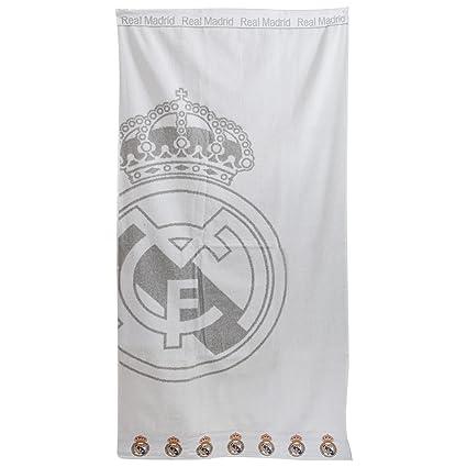 Real Madrid FC - Toalla de playa Oficial del Real Madrid FC con el escudo bordado