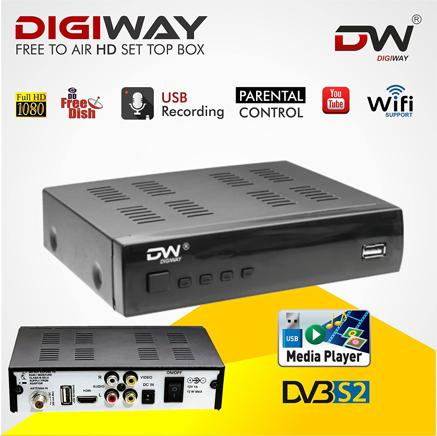 Digiway Free To Air Dd Direct Dth Set Top Box Dish Work Hd Wiring Diagram Picture Electronics