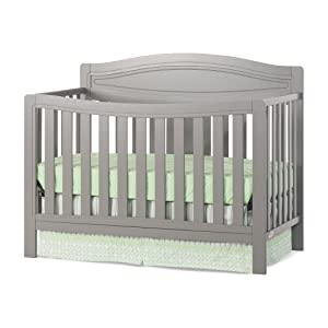 Child Craft Dresden 4-in-1 Convertible Crib, Cool Gray