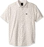 RVCA Mens M511VRPF Prelude Floral Short Sleeve Woven Button Front Shirt Short Sleeve Button Down Shirt
