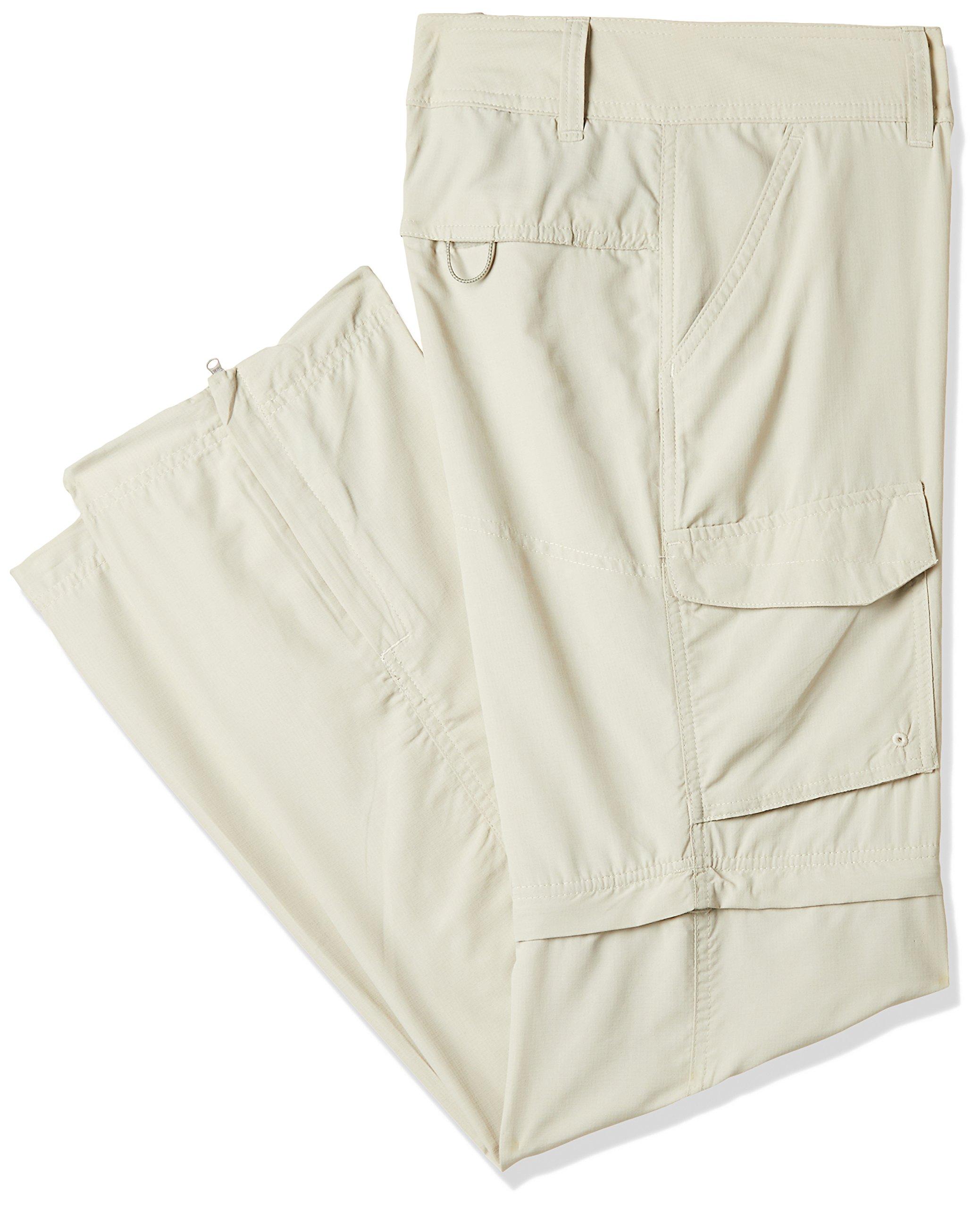 Columbia Silver Ridge Convertible Full Leg Pant, 2x Regular, Fossil,32.0 in long