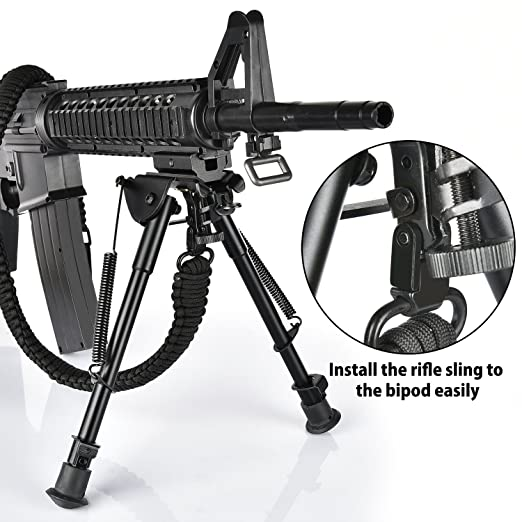 Amazon Com Cvlife 9 13 Inches Rifle Bipod With Solid Sling Adapter