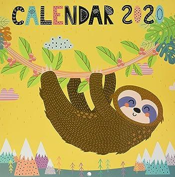Sloths Calendar 2020 Square Wall Calendar 30x30cm