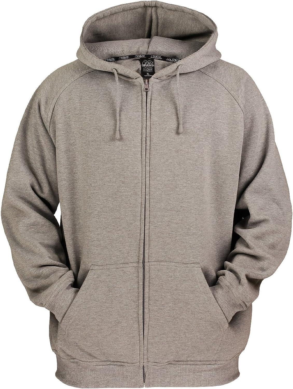 Urban Classics Herren Zip Hoody Kapuzenpullover Grey, Stone
