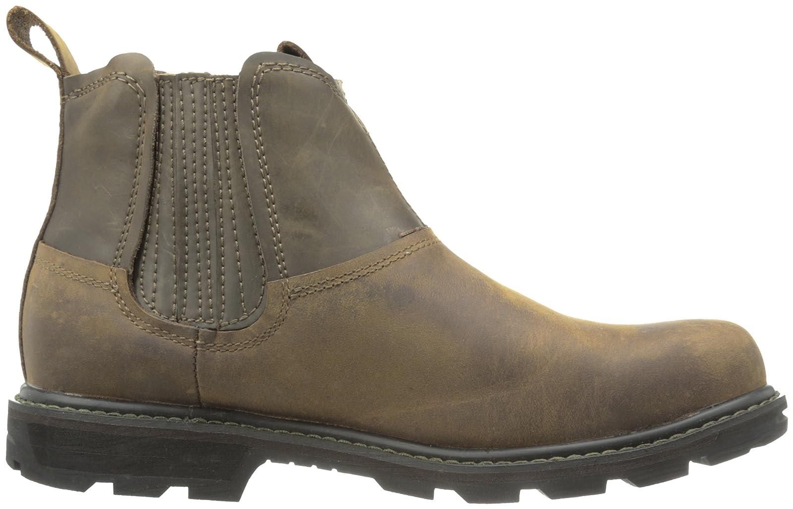 Skechers USA Men's Blaine Orsen Ankle Boot Dark Brown - 6