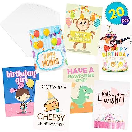 Paquete de 20 Tarjetas de Cumpleaños Surtidas - Diferentes ...