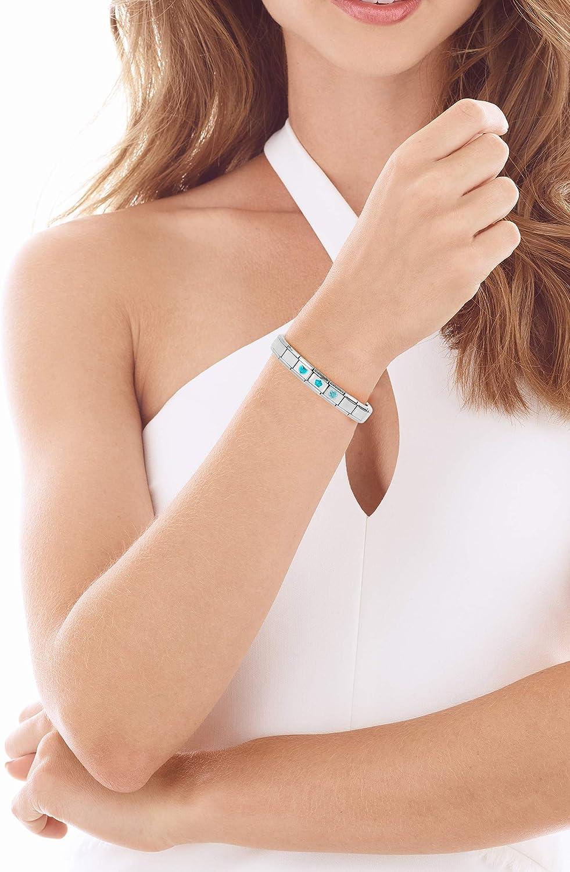 AKKi jewelry Italien Charms f/ür Glieder-Armband in Edelstahl Classic Damen mit Silber Charm bausteine Italy Style