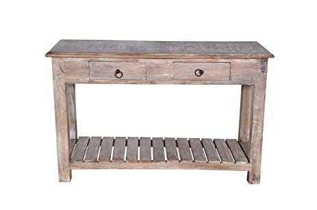 white washed mango wood. Two Drawer Whitewashed Mango Wood Console Table White Washed F