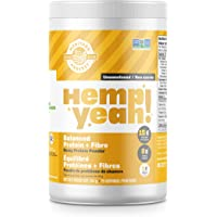 Manitoba Harvest Hemp Yeah! Balanced Protein + Fibre Powder, Unsweetened, 454g, with 15g protein, 8g Fibre and 2g Omegas 3&6 per Serving, Preservative Free, Non-GMO