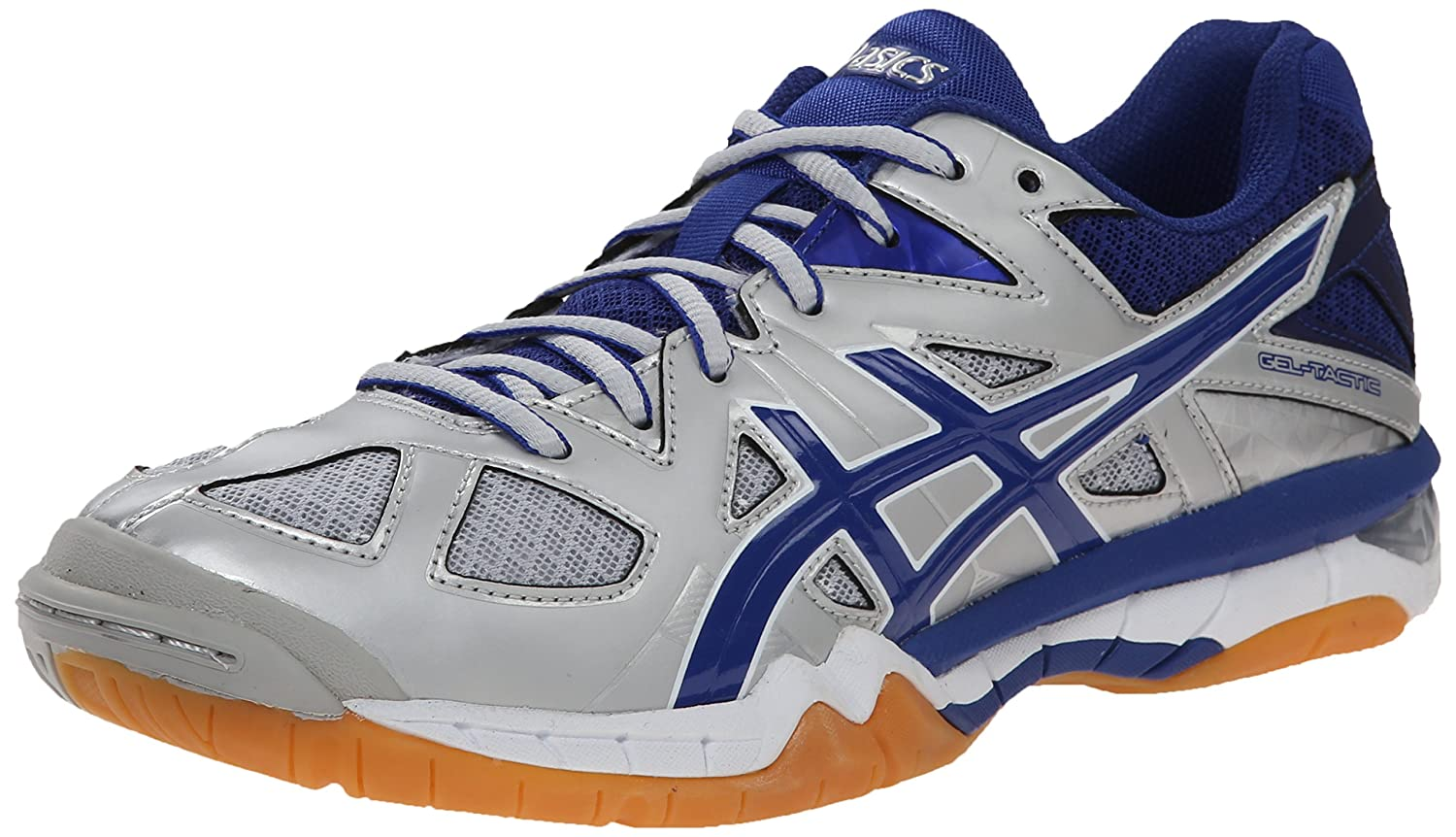 ASICS Women's Gel Tactic Volleyball Shoe B00Q2JQ3VI 13 B(M) US|Silver/Royal/White