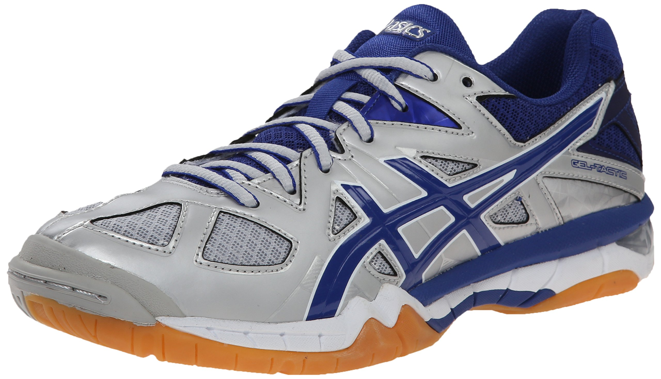 Asics Gel-Tactic Women Silver/Royal/White Volleyball Shoes 17365