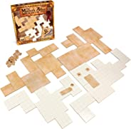 The Master's Atlas (Blank/Parchment) | 44 Reversible Dry & Wet Erase Map Grid Tiles | 48 Dungeon Object Tokens: Treasure, Do