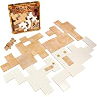 The Master's Atlas (Blank/Parchment) | 44 Reversible Dry & Wet Erase Map Grid Tiles | 48 Dungeon Object Tokens: Treasure…