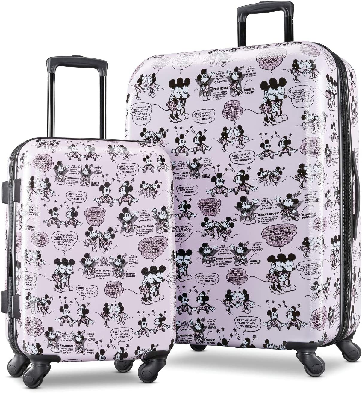 American Tourister Disney Hardside Luggage with Spinner Wheels, Mickey and Minnie Romance, 2-Piece Set (21/28)