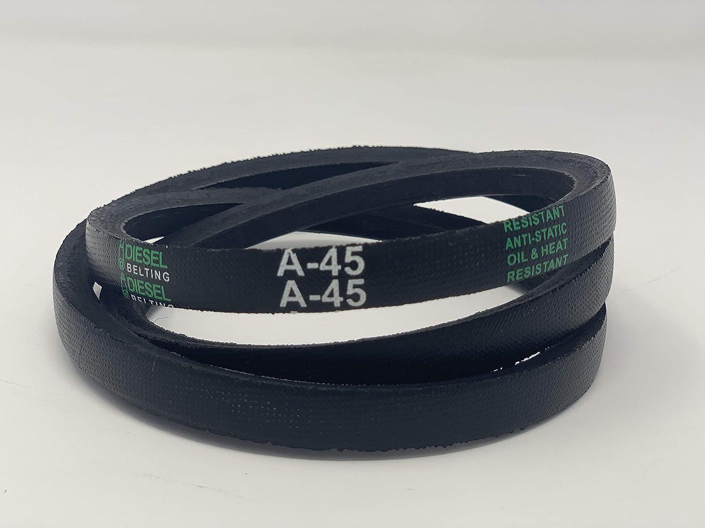D/&D PowerDrive A43 or 4L450 V Belt  1//2 x 45in  Vbelt