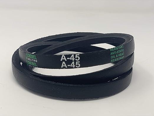 THREE FIVE A//4L Dual Brand A45//4L470 V Belt Rubber 1//2 x 47 OC