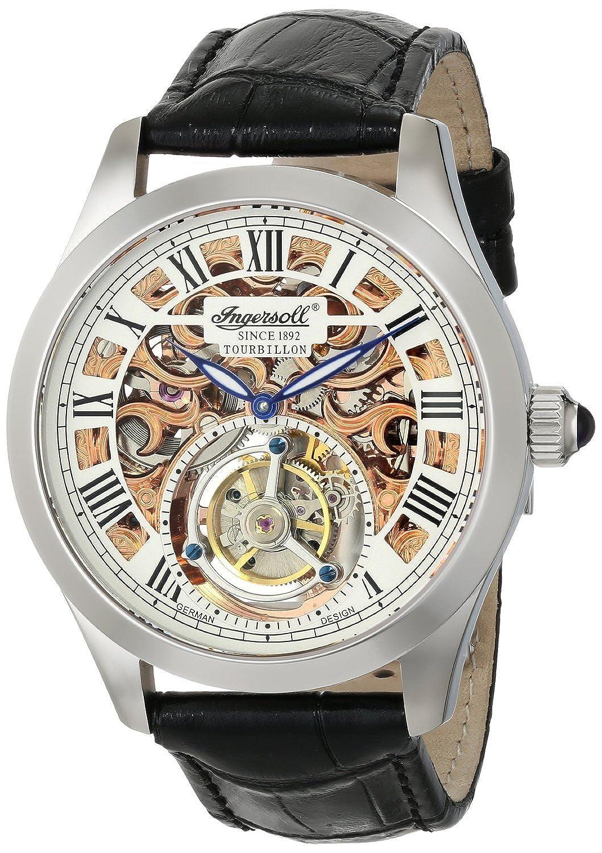 [インガソール]Ingersoll 腕時計 Golden Spike Tourbillon Analog Display Mechanical Hand Wind Black Watch IN5102SRG メンズ [並行輸入品] B01AT0U6LS