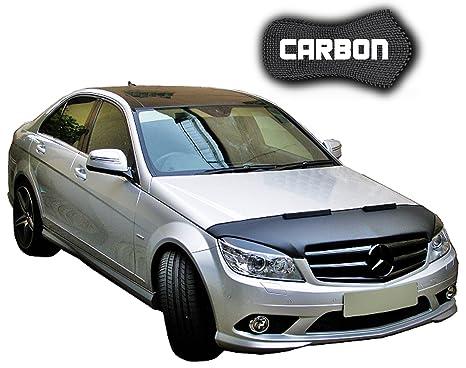 haubenbra de Mercedes Benz W204 Carbono Auto Máscara Bra para piedra Impacto Tuning Car Bra Top