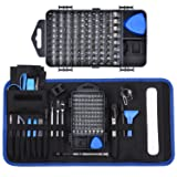 Professional Precision Screwdriver Repair Tool Kit,139 in 1 with 98 Magnetic Bits and 41 Repair Tools Such as Flexible Shaft and Anti-Static Wrist, Suitable for Computer, Laptop Assembly and Repair (Color: 139 IN 1)