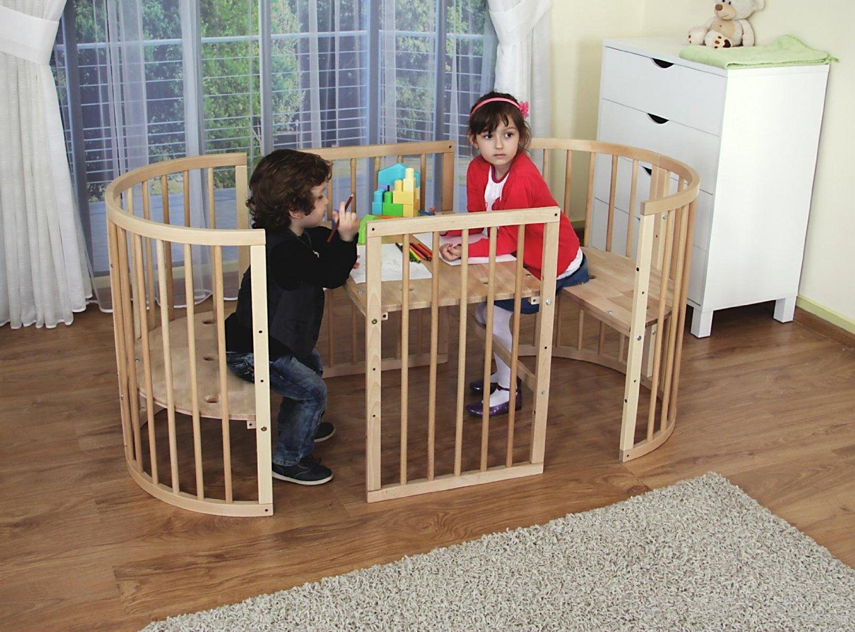Comfortbaby © ovales babybett kinderbett 5 in 1 aus buche