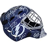 $899 » Tampa Bay Lightning 2020 Stanley Cup Champions Autographed Replica Goalie Mask with Multiple Signatures - Limited Edition of 20 - Autographed…