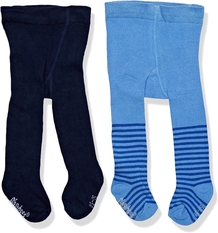 2er Pack Playshoes M/ädchen Nilpferd und Unifarben mit Komfortbund Strumpfhose