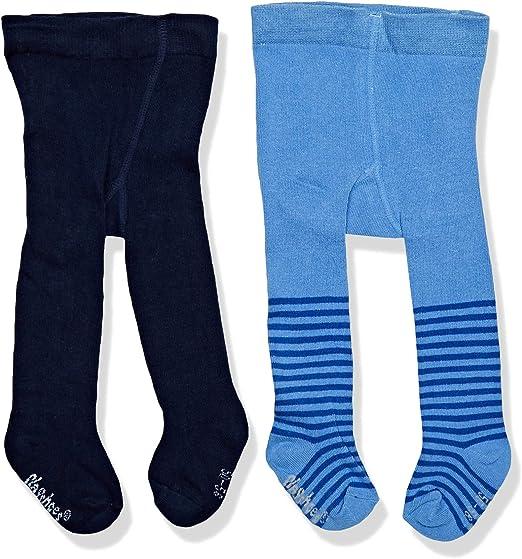 Playshoes M/ädchen Nilpferd und Unifarben mit Komfortbund Strumpfhose 2er Pack