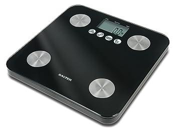 Salter 9106 BK3R - Báscula de baño con memoria,10 usuarios