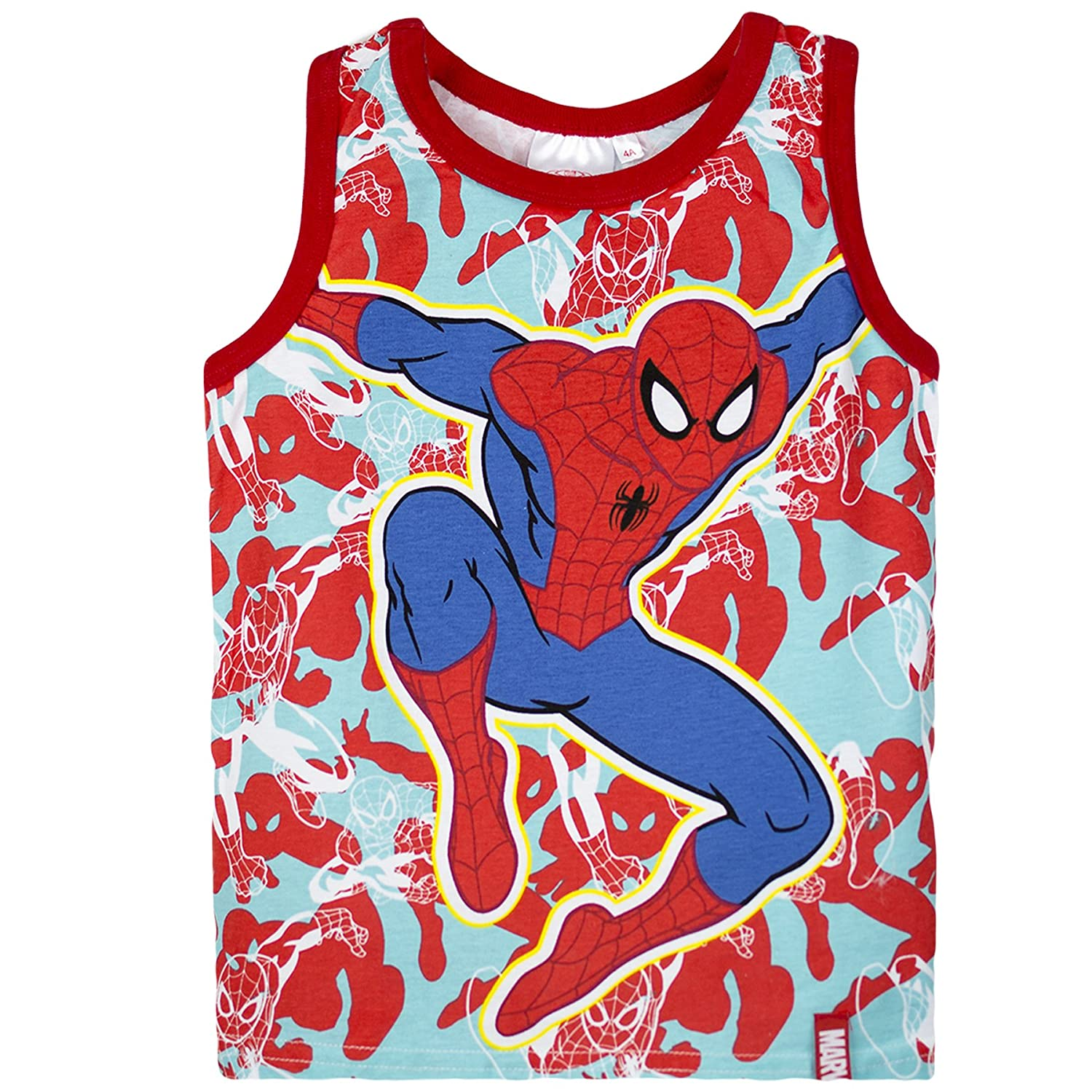 Spiderman Marvel Boys Top, Vest - Collection 2016 - 2-8 Years RED 8Y