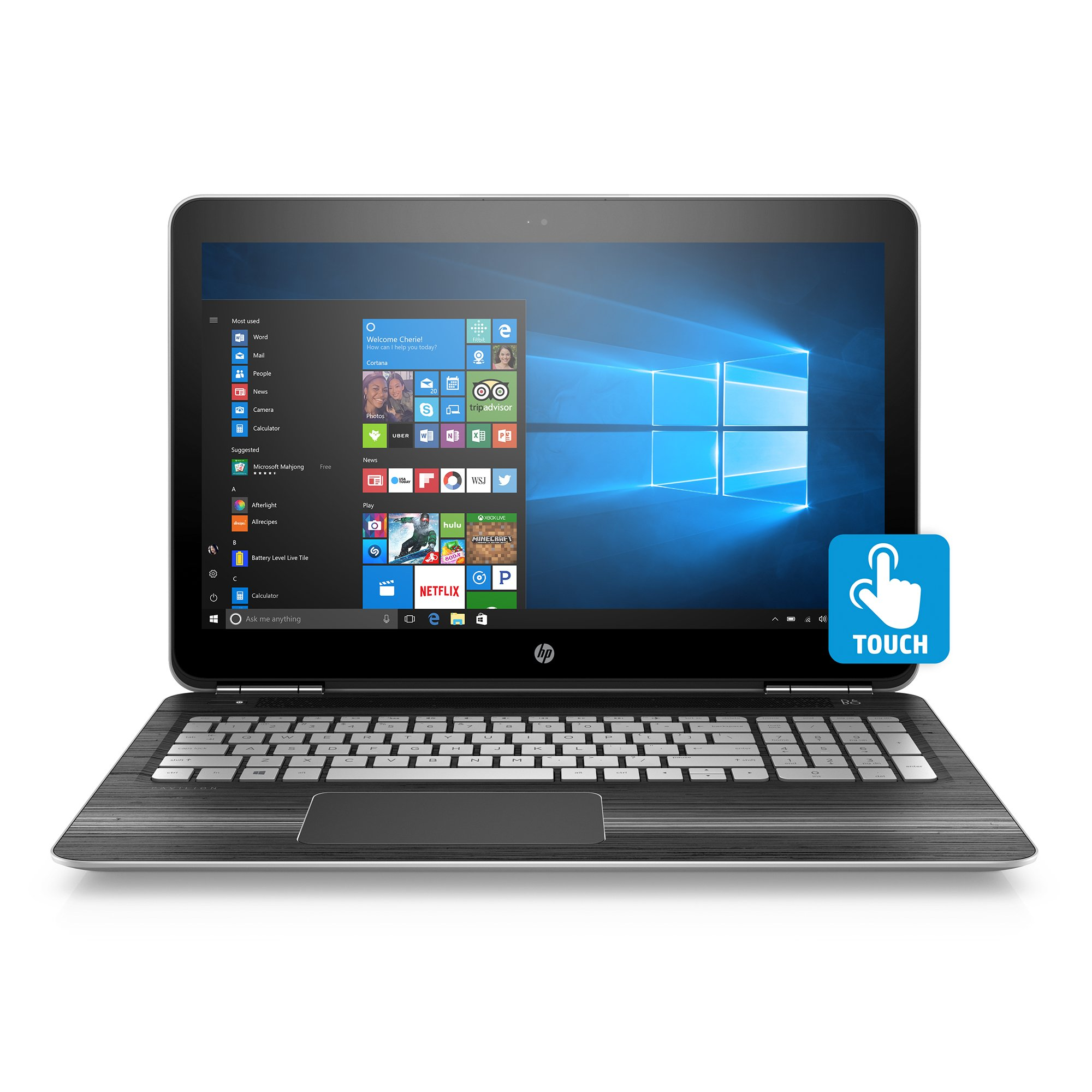 HP Pavilion 15-inch Laptop, Intel Core i5-7300HQ, NVIDIA GeForce GTX 1050, 12GB RAM, 1TB hard drive, Windows 10 (15-bc220nr, Silver)
