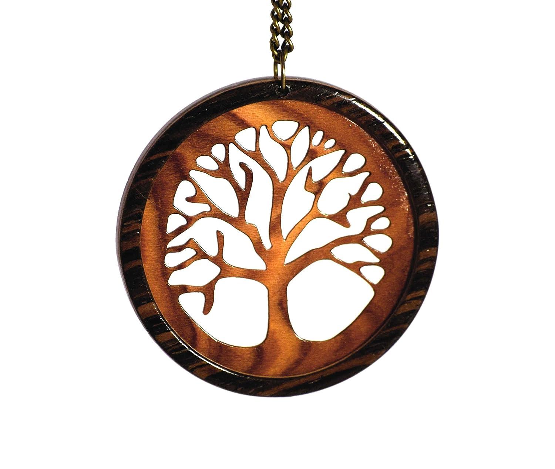 spesso Ciondolo legno Albero della vita: Amazon.it: Gioielli BK66