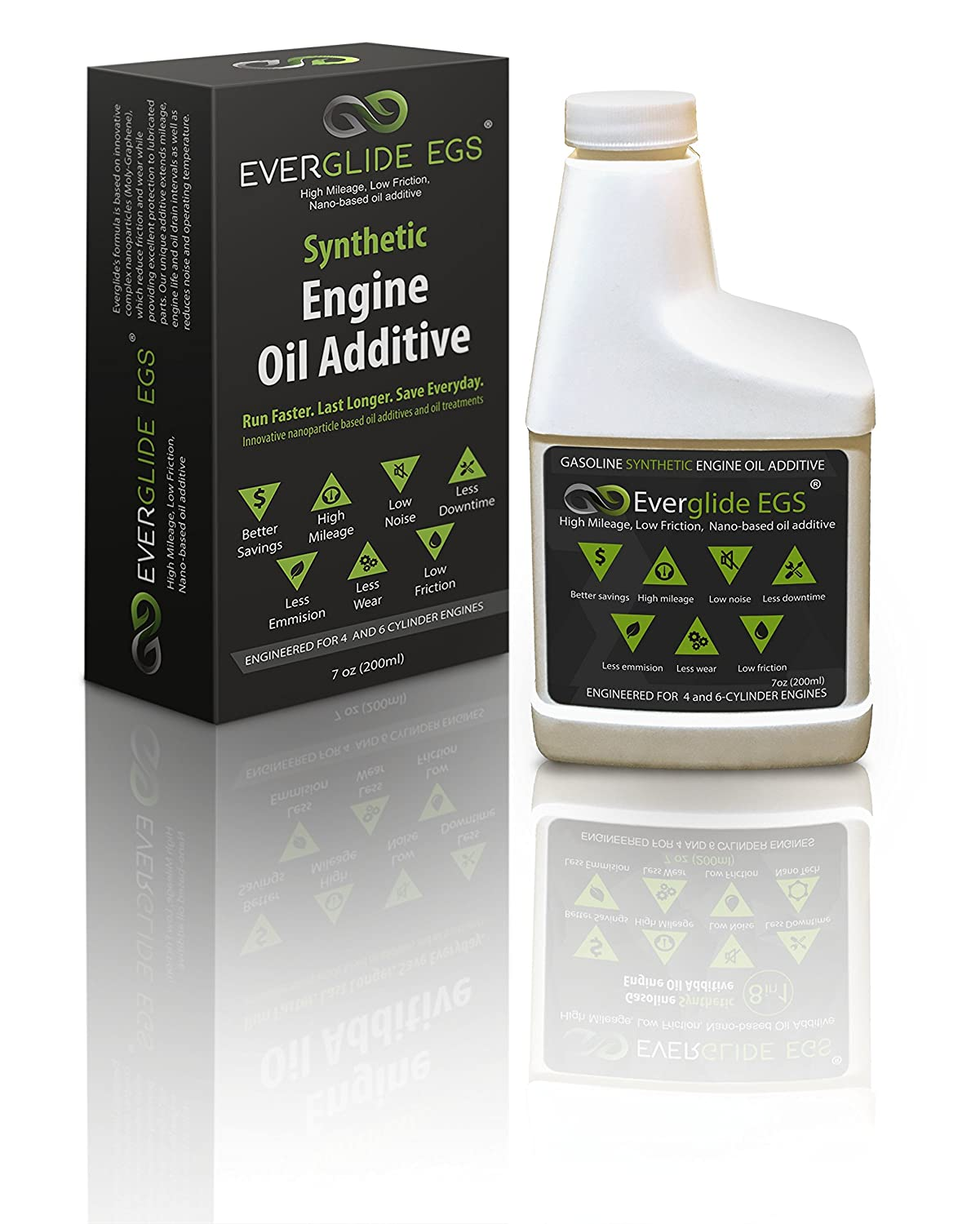 Everglide EGS Synthetic Nano-Based Engine Oil Treatment. MPG Booster. Everglide Oil
