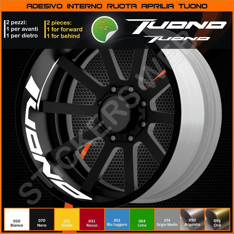 0281 Aprilia Tuono adesivi ruote interno strisce cerchi decalcomanie strip cerchioni Cod 031 Rosso