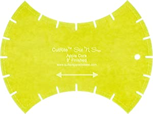 Quilter's Paradise CutRite Slit 'N Sew 9in Finished Apple Core Template, Green 20 Count