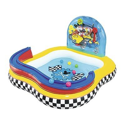 Bestway 91015 Disney - Piscina de juegos hinchable con diseño de la Casa de Mickey Mouse 157x157x91 cm: Juguetes y juegos