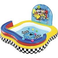 Bestway 91015 Disney - Piscina de juegos hinchable con diseño de la Casa de Mickey Mouse 157x157x91 cm