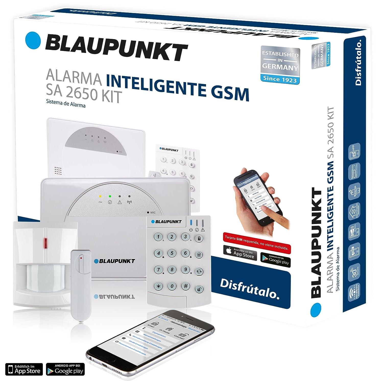 Blaupunkt - Kit de Alarma inteligente SA 2650, Inalámbrica, transmisión vía GSM